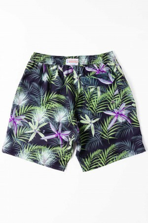 Shorts Agua Floral Purple